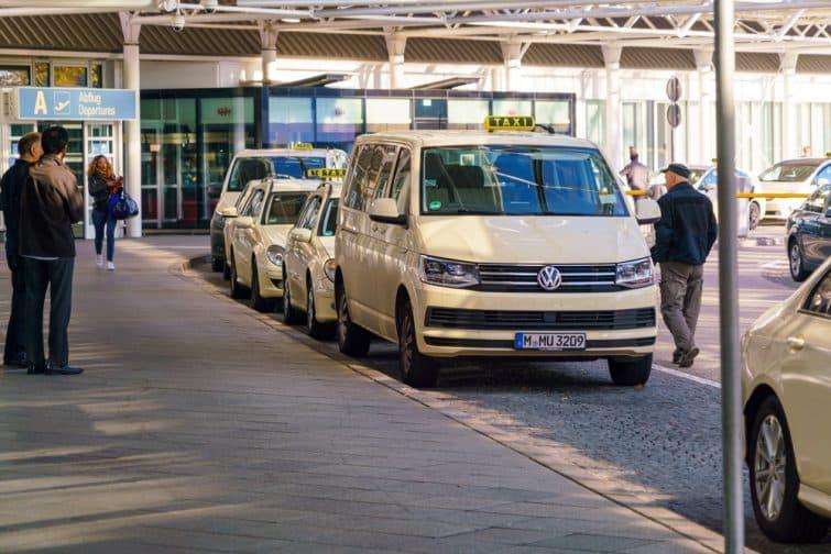 Navette taxi à l'aéroport de Munich