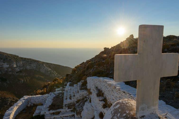 Eglise d'Oria au château d'Oria, Kythnos