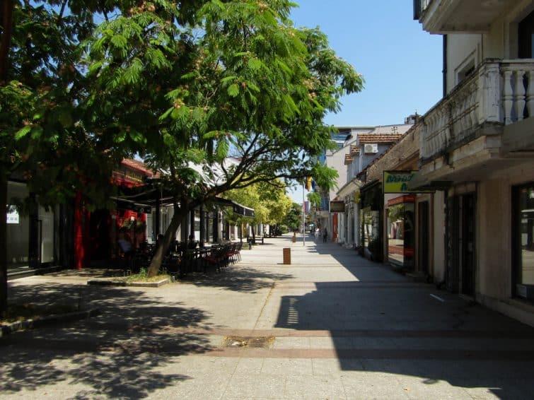 Dans le centre-ville de Podgorica