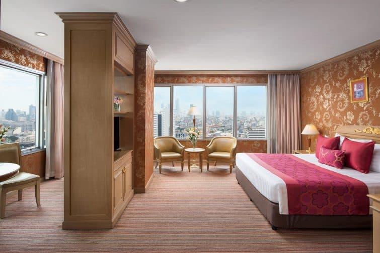 Chambre avec vue au Prince Palace Hotel à Bangkok