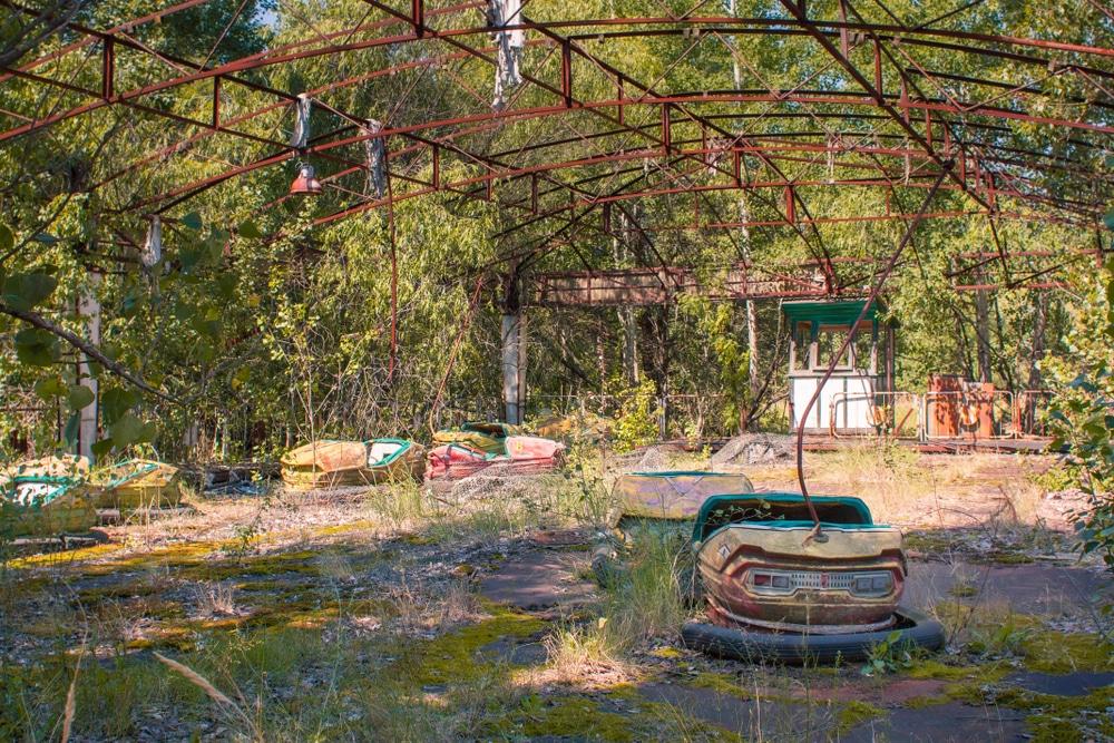 Ville abandonnée de Pripya, Tchernobyl, Ukraine