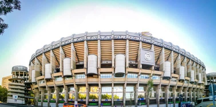 Vue panoramique du stade Santiago Bernabéu