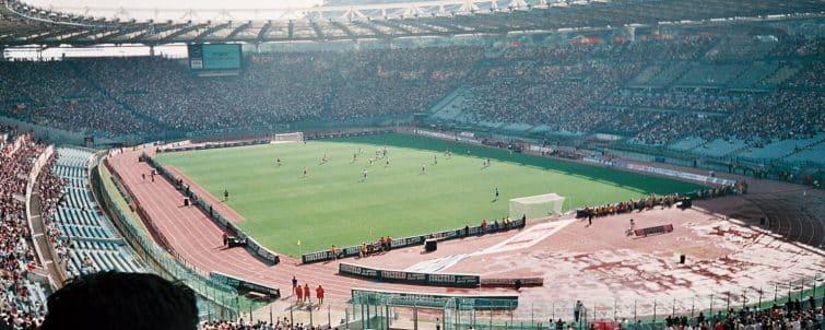 Le Stadio Olimpico vu de haut