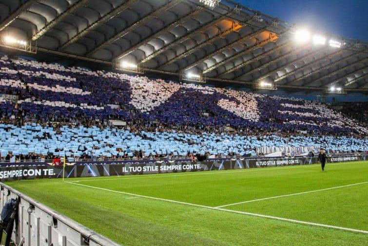 Tifo de la Curva Nord lors de Lazio-Inter