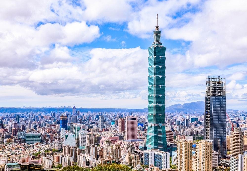 Vue sur la ville de Taipei