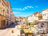 the old town of Aix-en-Provence city on the south of France.