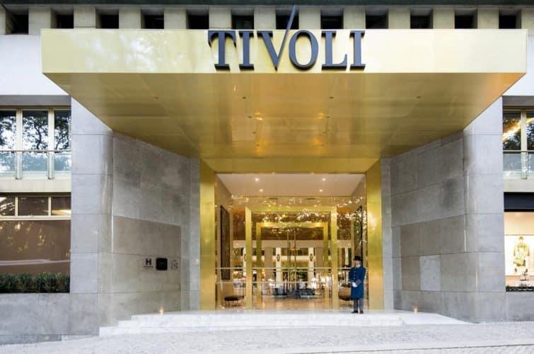 Devanture de l'hôtel Tivoli, Lisbonne