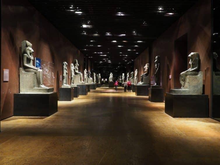 Dans le musée égyptologique de Turin