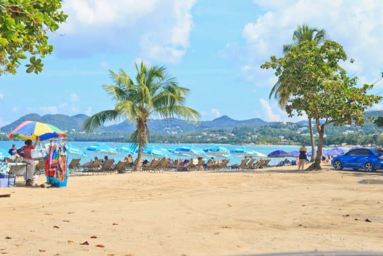 Plage de Vigie Beach à Castries, Sainte-Lucie