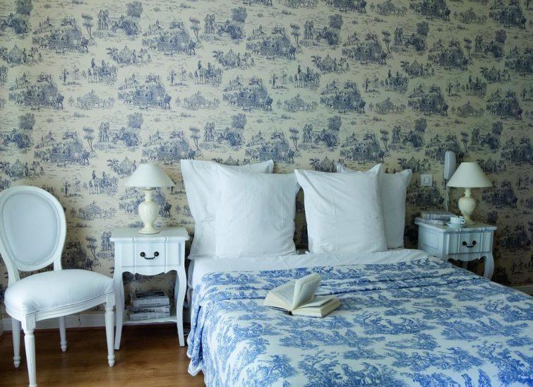 Chambre bleue, Villa Rivoli, Nice