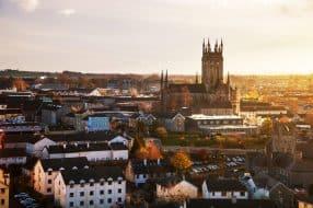 Vue sur la ville de Kilkenny en Irlande