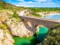 Vue sur le Pont du Diable, Occitanie