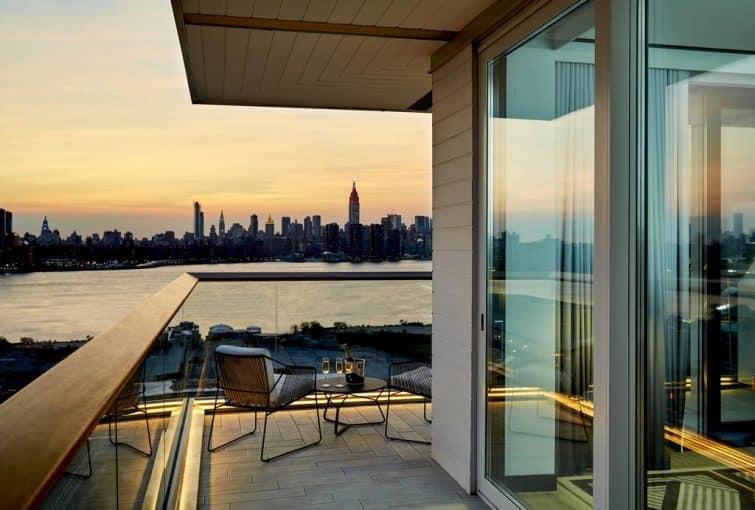Terrasse avec vue au William Vale Hotel, New York