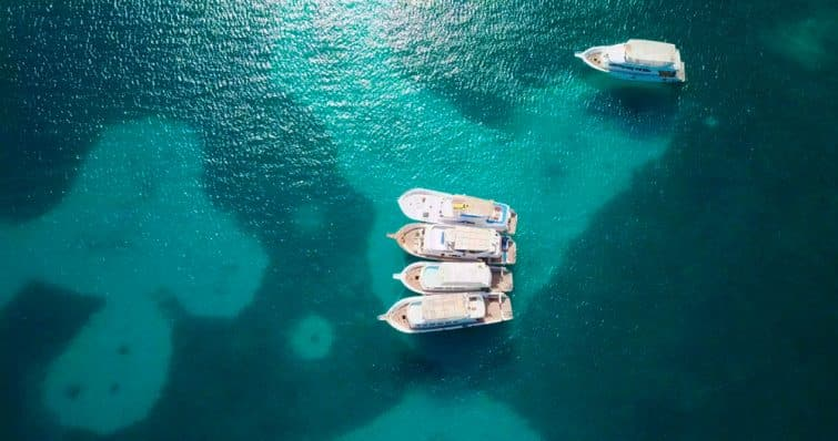 Bateaux, île Giftun, Hurghada - Égypte