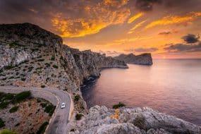 Cap de Formentor à Majorque au coucher du soleil.