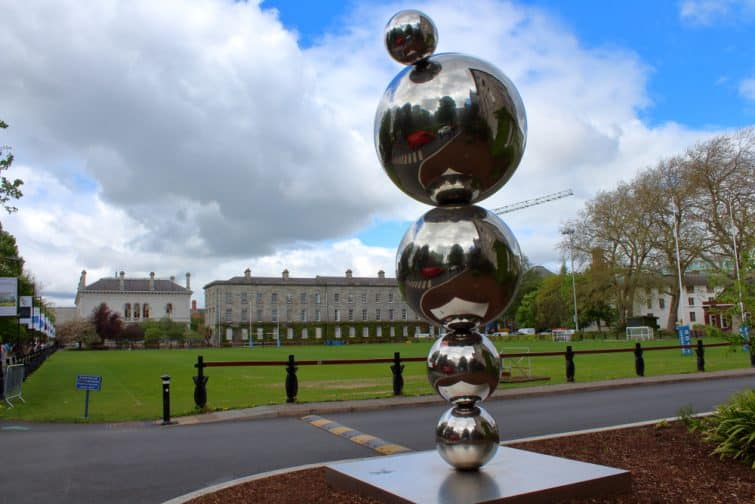 DublinIreland- 2019 Sculpture at Trinity College Dublin