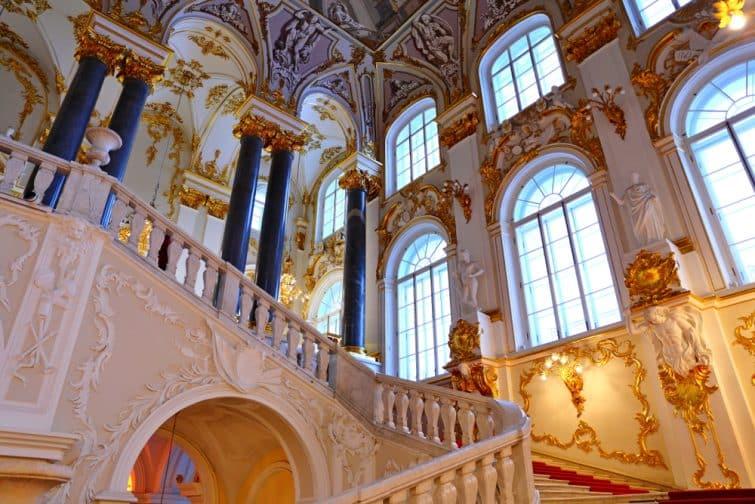 Escalier jordanien du palais d'hiver
