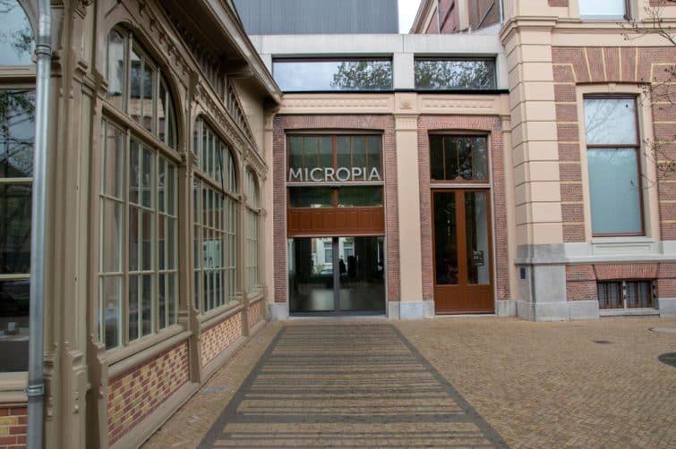 Entrée du musée Micropia, Amsterdam