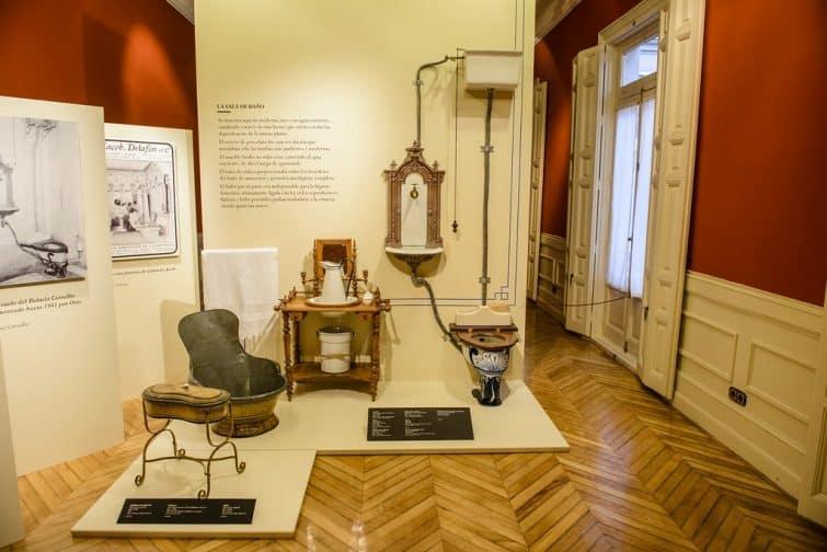 Reconstitution d'une salle de bain d'époque, Museo Cerralbo , Madrid