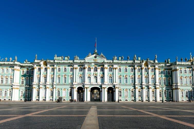 Palais d'hiver, musée de l'Ermitage à Saint-Pétersbourg, Russie