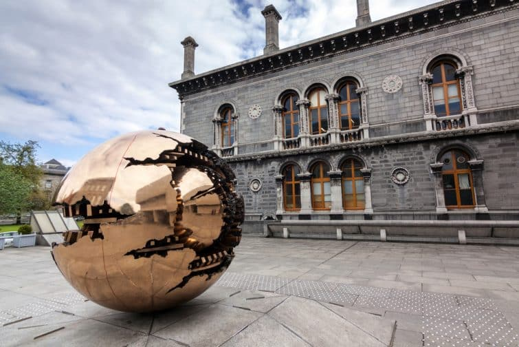 Sphere Within Sphere is a bronze sculpture in Trinity College Dublin