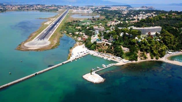 Transfert entre l'aéroport de Corfou et le reste de l'île