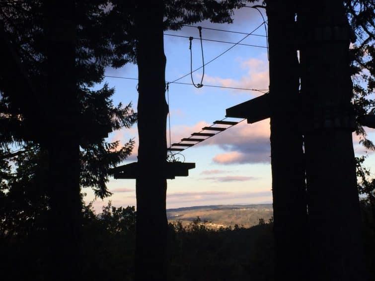 Parcours d'accrobranche à Bioparque, Portugal