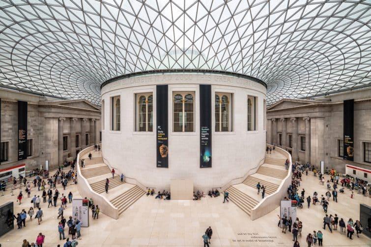 Intérieur du British Museum à Londres