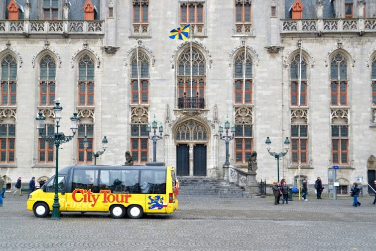 Bus city tour à Bruges