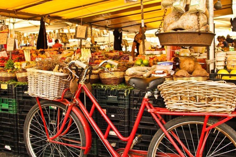 Visiter le Campo de' Fiori à vélo