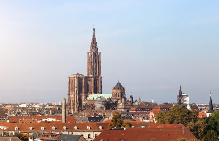 cathédrale strasbourg ciel