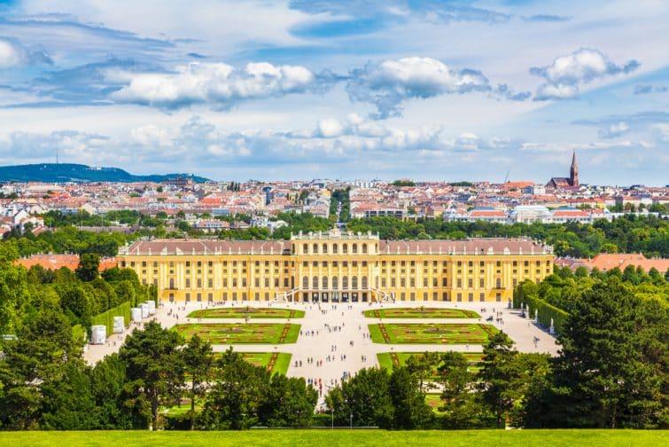 château de Schonbrunn avec le jardin panoramique