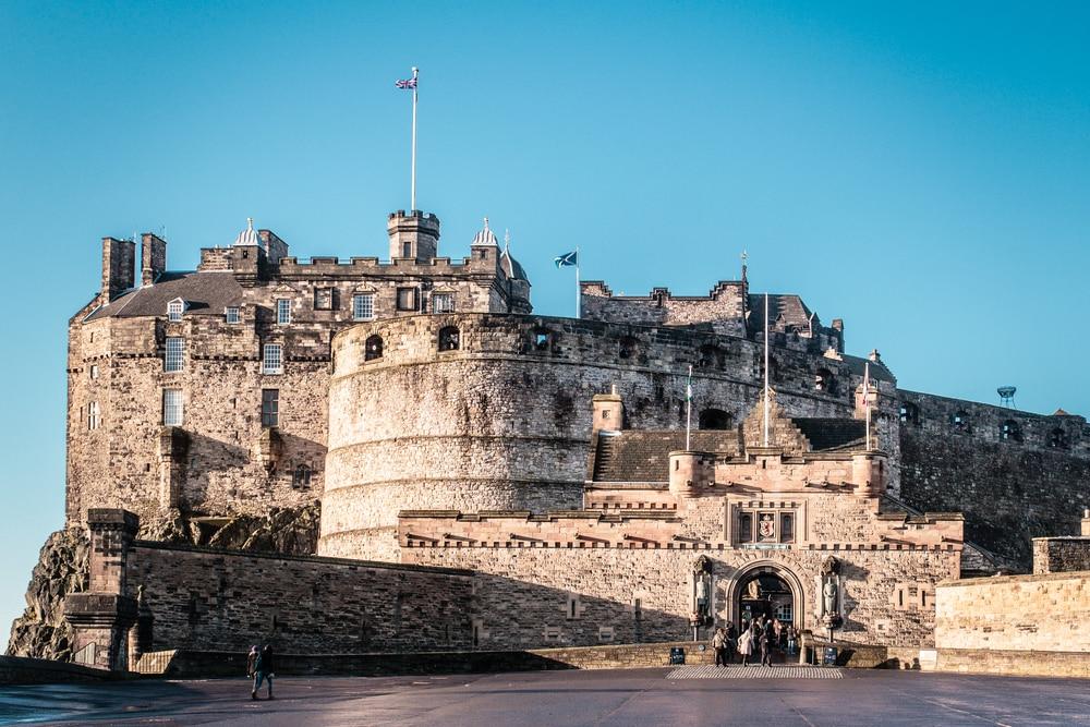 Entrée du château d'Edimbourg, Ecosse