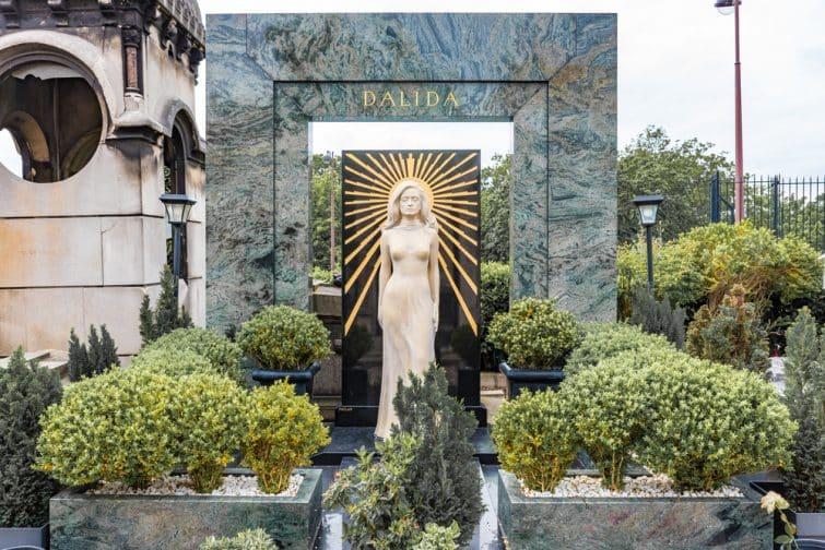 Tombe de Dalida, cimetière Montmartre, Paris