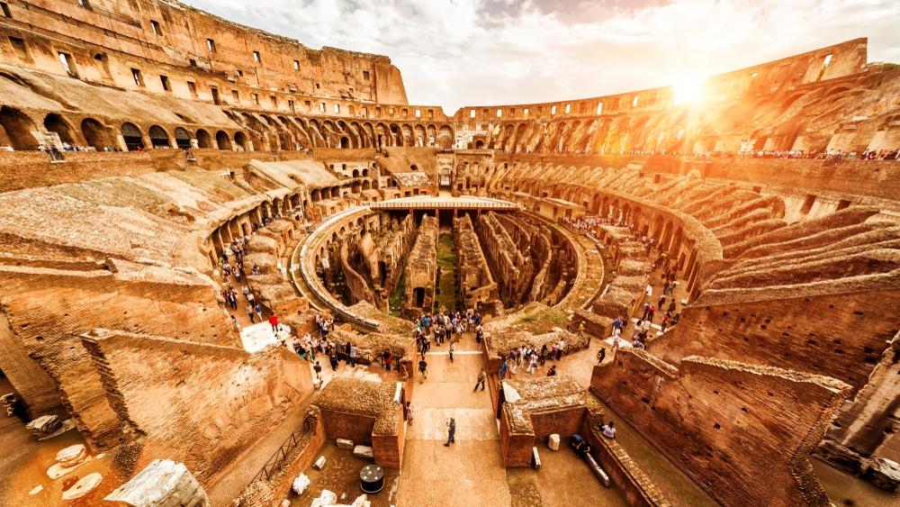 L'intérieur du Colisée