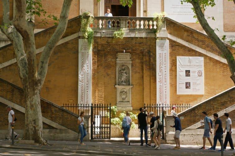 Entrée de la ctypte des Capucins, Rome