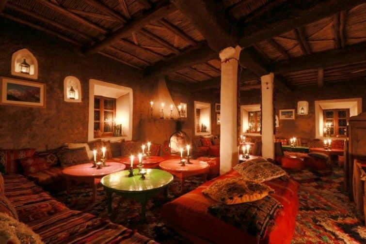 Salon marocain à Douar Samra, Montagnes de l'Atlas
