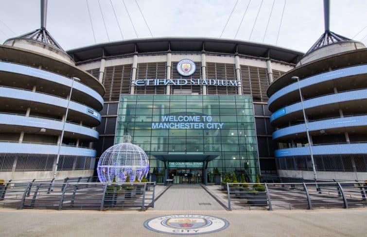 L'entrée de l'Etihad Stadium