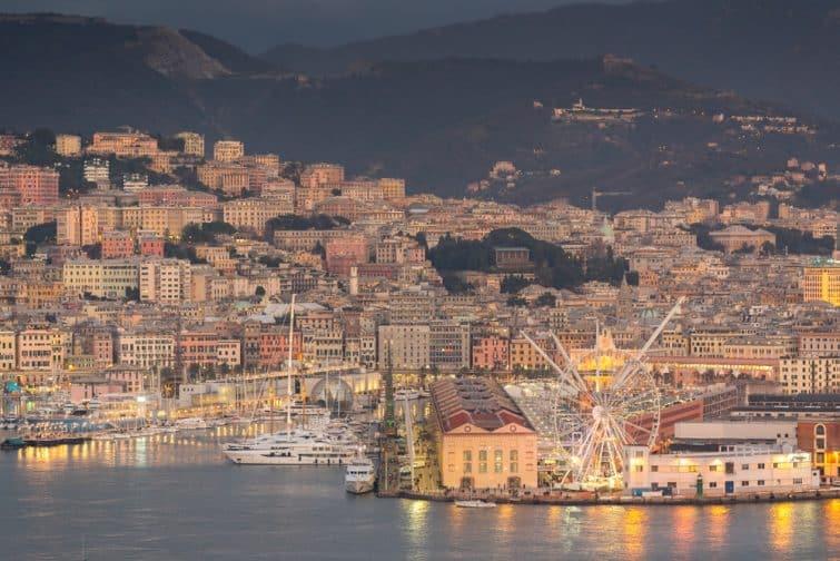 Port de Gênes en Italie