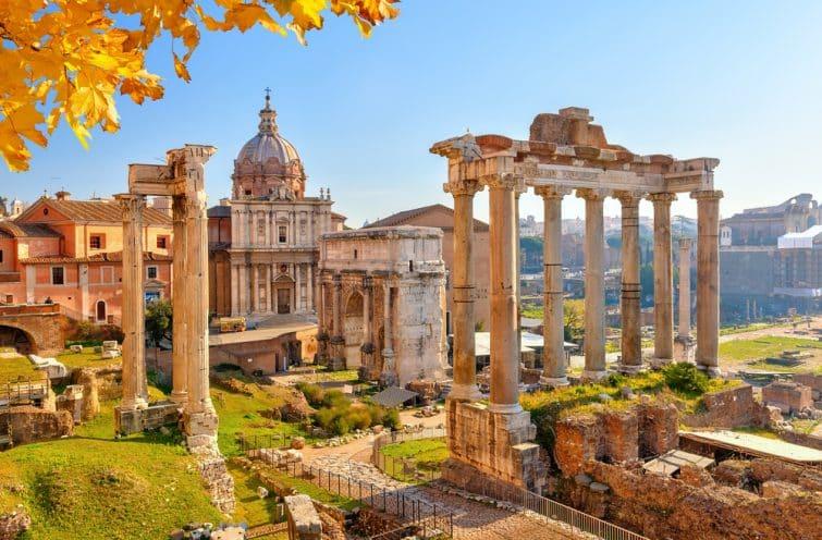 Vue sur les ruines et Forum Romain, Rome