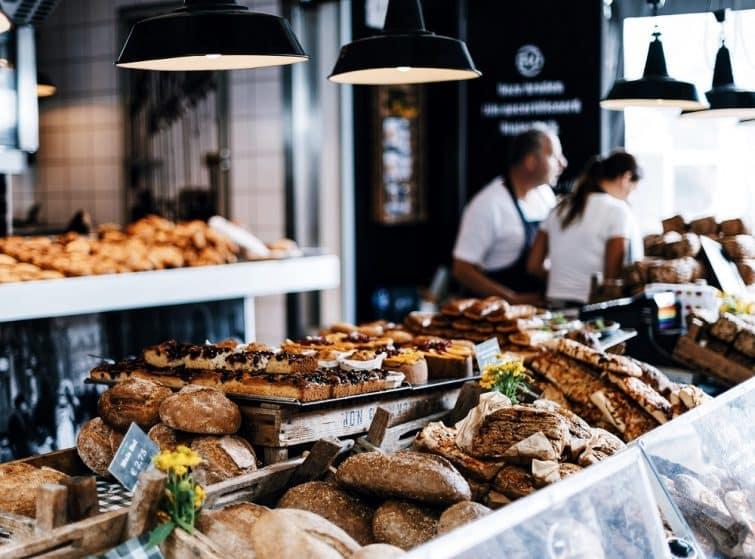 stand de pâtisseries à Amsterdam