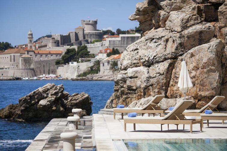 Terrasse et piscine avec vue sur mer, Hôtel Grand Villa Argentina, Dubrovnik