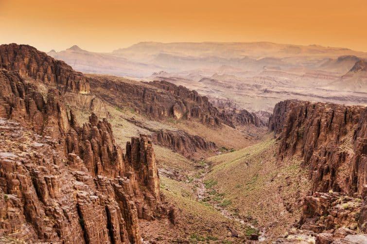 Vue sur les montagnes de l'Atlas