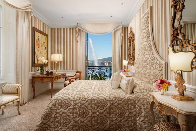 Chambre avec vue à l'hôtel Angleterre, Genève