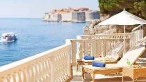 Terrasse avec vue sur mer à Dubrovnik
