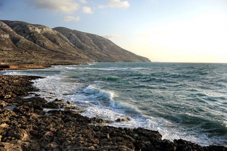 Le mer Egée près de Kassos