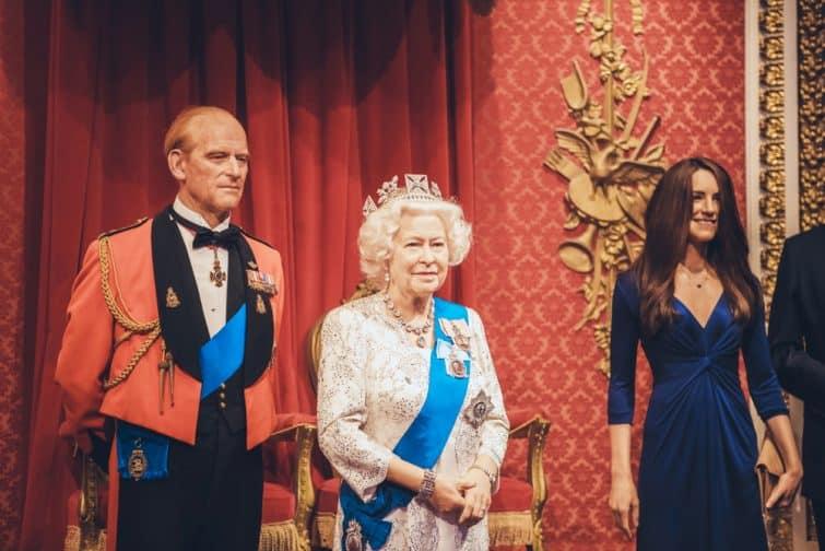 Les statues de cire de la Famille Royale, au Madame Tussauds de Londres
