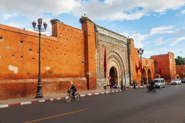 Route dans Marrakech