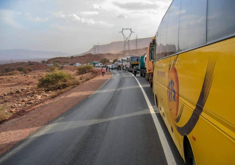 Des embouteillages à l'entrée de Marrakech