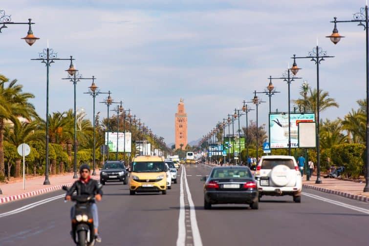 Route à Marrakech